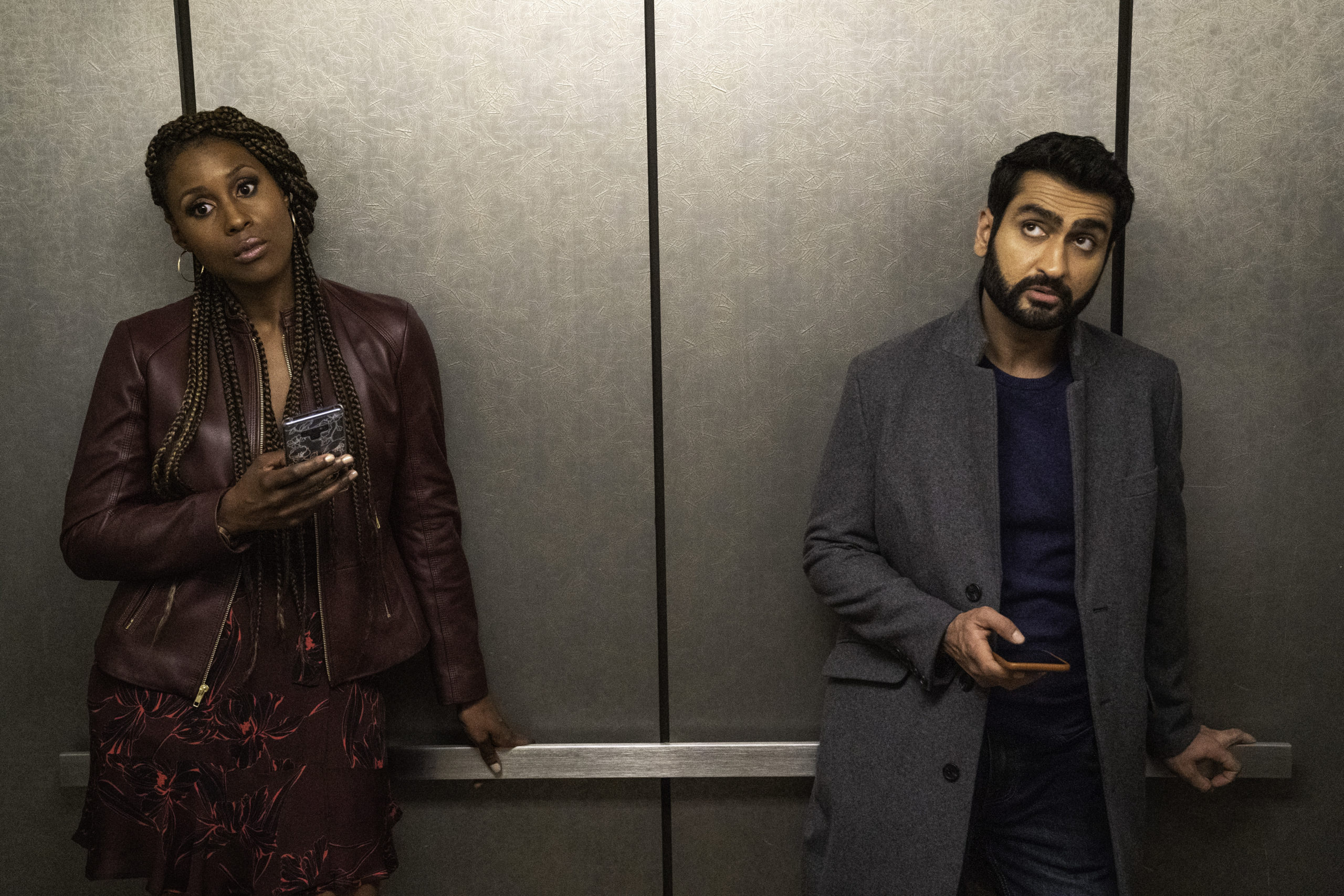 "Issa Rae as Leilani, Kumail Nanjiana as Jibran of ""The Lovebirds"" from NETFLIX."