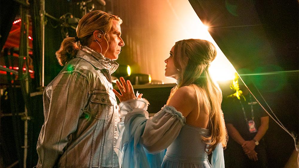 EUROVISION SONG CONTEST: The Story of Fire Saga - Will Ferrell as Lars Erickssong, Rachel McAdams as Sigrit Ericksdottir. Credit John Wilson/NETFLIX © 2020