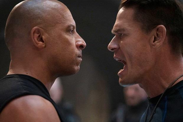 """(from left) Dom (Vin Diesel) and Jakob (John Cena) in """"F9,"""" directed by Justin Lin."""