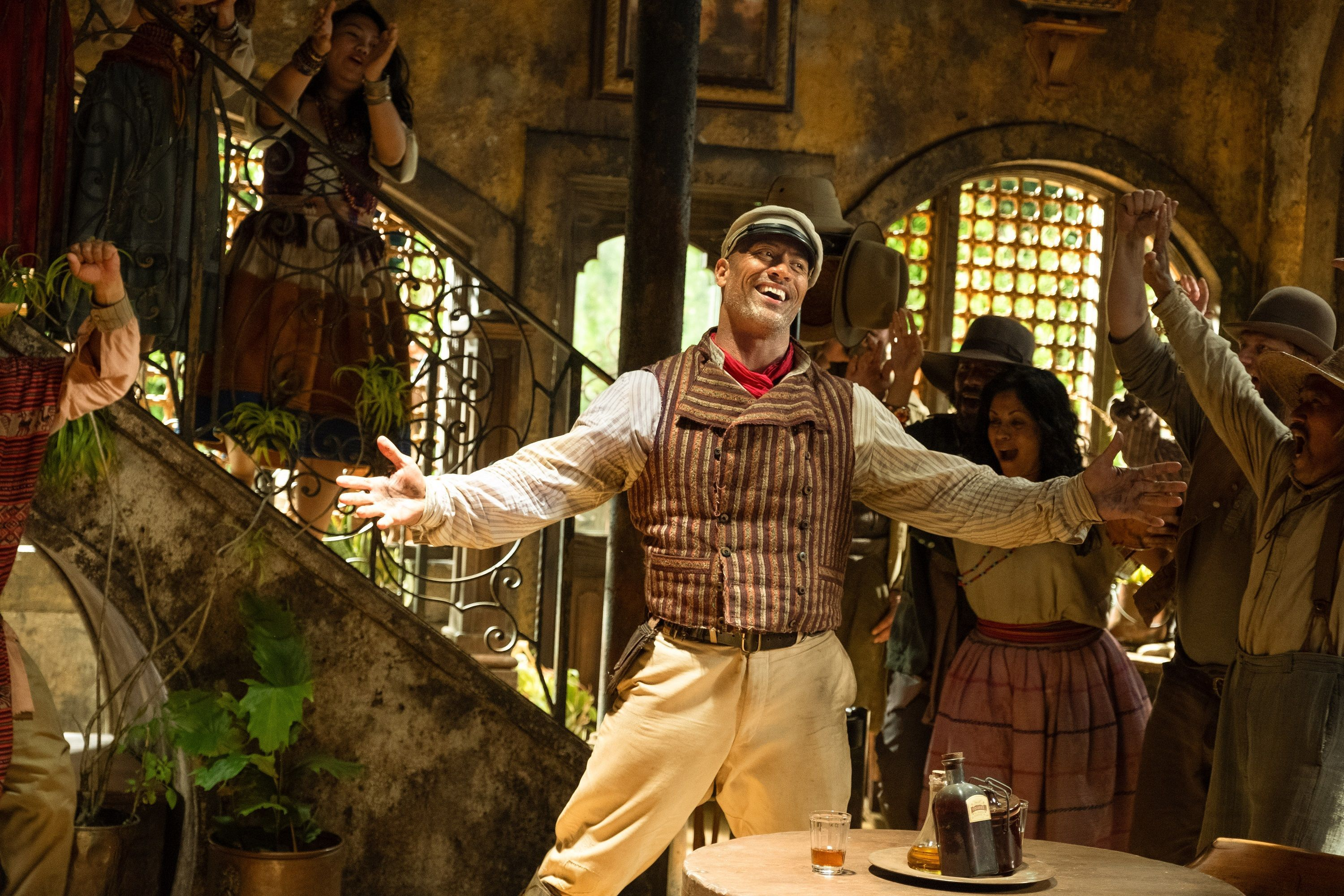Dwayne Johnson is Frank Wolff in Disney's JUNGLE CRUISE. Photo by Frank Masi. © 2021 Disney Enterprises, Inc. All Rights Reserved.